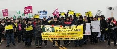 Protesters shut down Canso Causeway over pending hospital closures