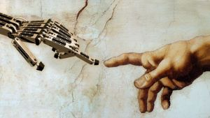 Being touched by a humanoid robot makes people happier, more open to obey machines