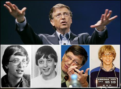 Bill Gates throughout the years