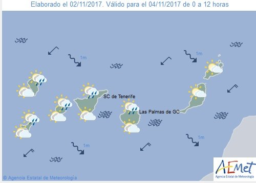 Gran Canaria Weather: Autumnal cloud with possibility of weak showers