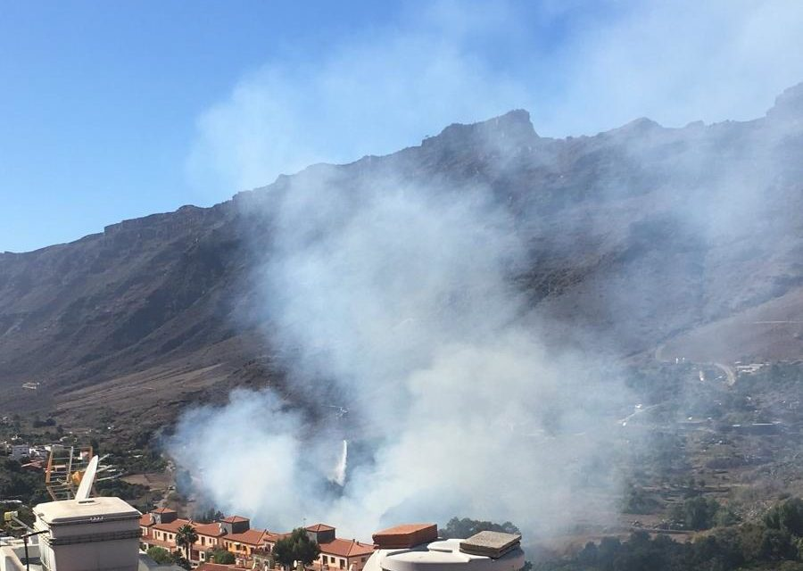 Fire in Mogán