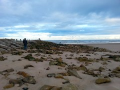 Wandering along the beach at Lossiemouth
