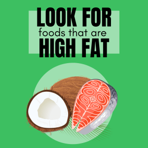 Fats tend to be high in calories and be highly palatable - perfect for our picky pup.