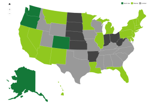 Medical Marijuana States Map 2016.State By State Policies National Cannabis Industry Association
