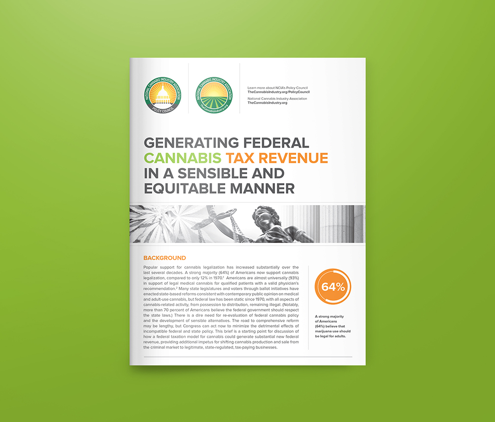 Generating Federal Cannabis Tax Revenue in a Sensible and Equitable Manner