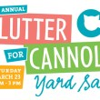 Third Annual Clutter for Cannoli Yard Sale on March 23, 2013