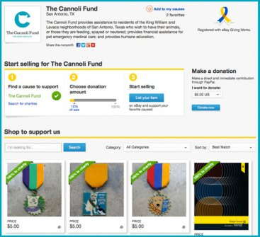 eBay for Charity The Cannoli Fund