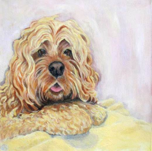 dog-paintings-cocker-spaniel