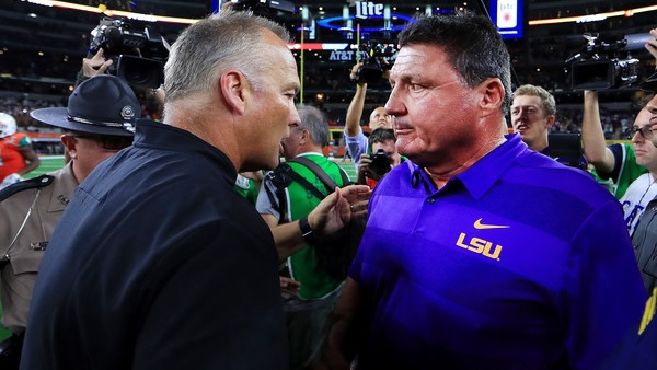 Report: LSU's Orgeron brought multiple girlfriends to practice