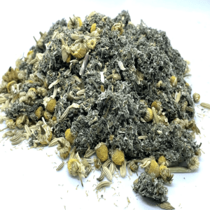 Period Relief Tea with Chamomile Fennel Raspberry Leaves Handmade Vegan 50g