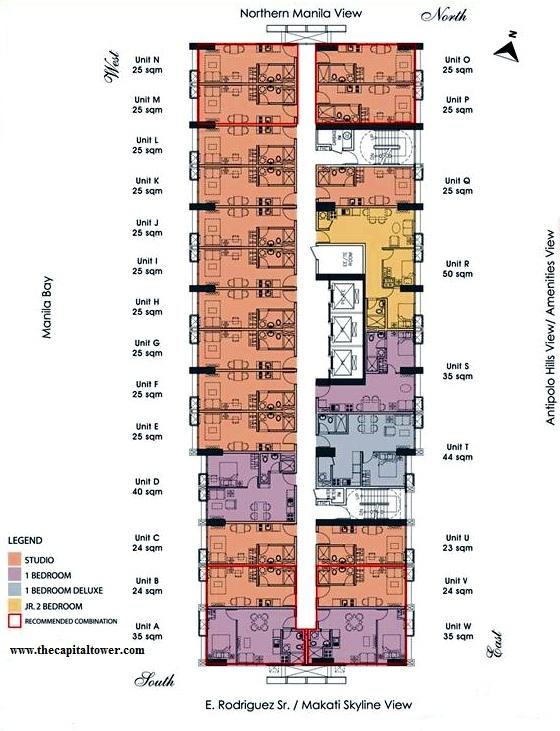 Floor Plan The Capital Towers