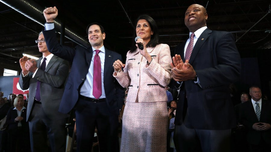 Rubio smacks down Michelle Obama's comment that GOP is 'all men, all white'