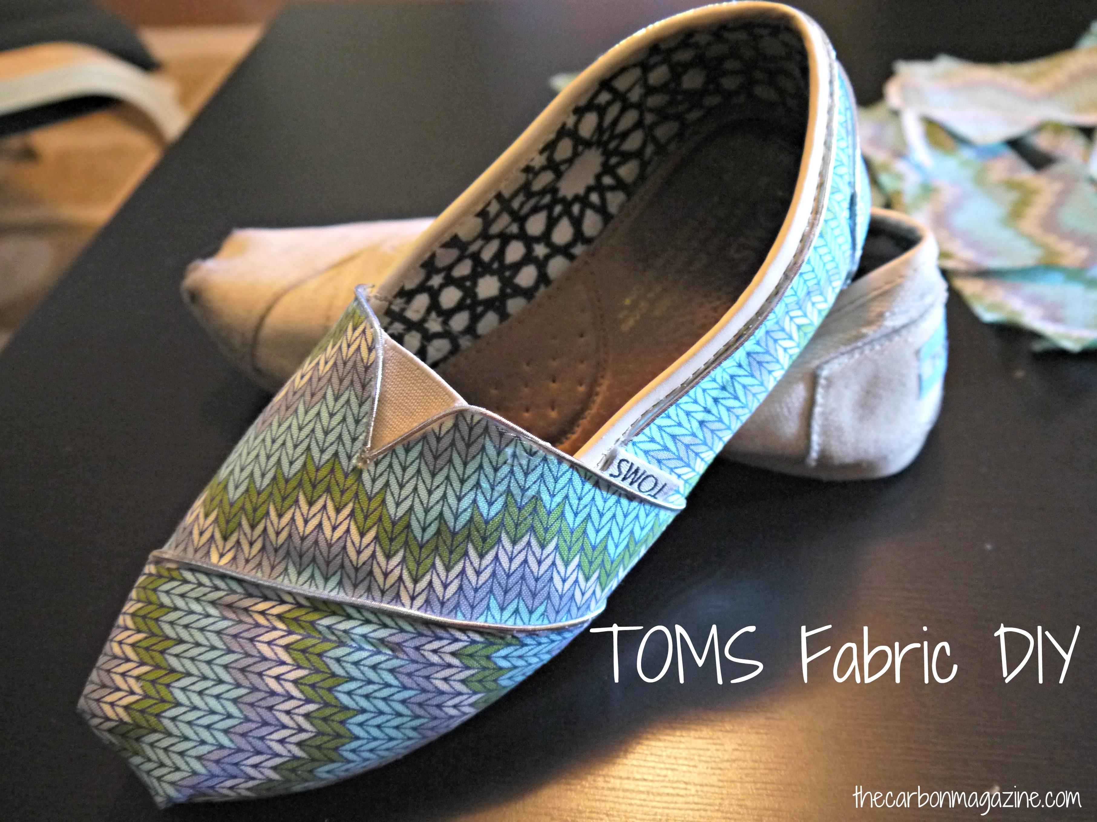 Design DIY: Fabric TOMS DIY