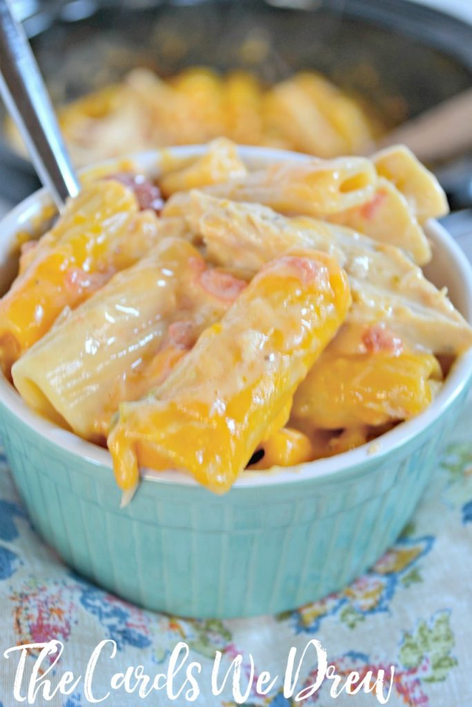 Crockpot Cheesy Chicken Rigatoni