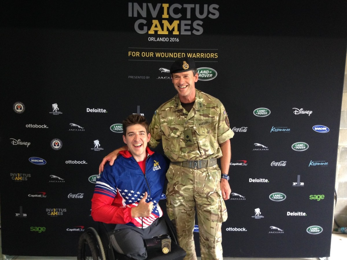 General Major Neil Marshall at the Invictus Games 2016 before his transition to civilian life