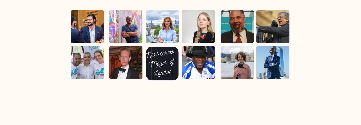 Mayor of London Race Candidates