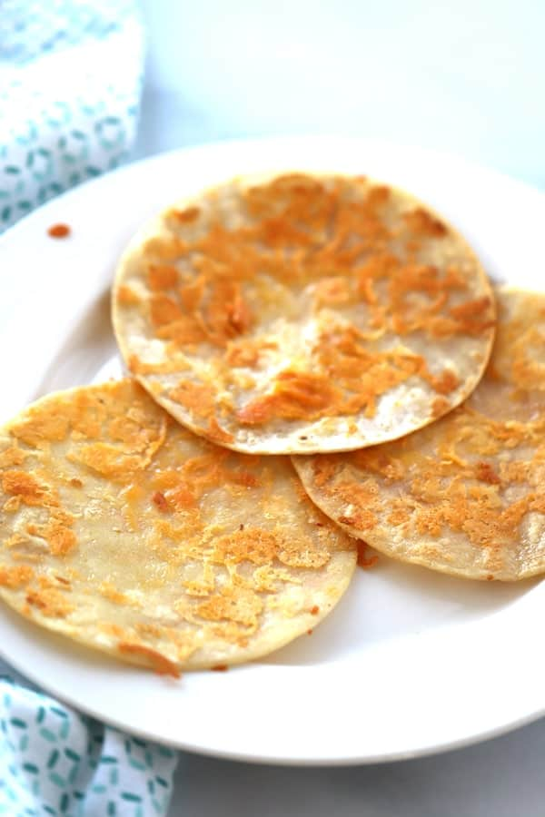 Cheese Fried Tortilla Corn Shells, the perfect start to any incredible taco!