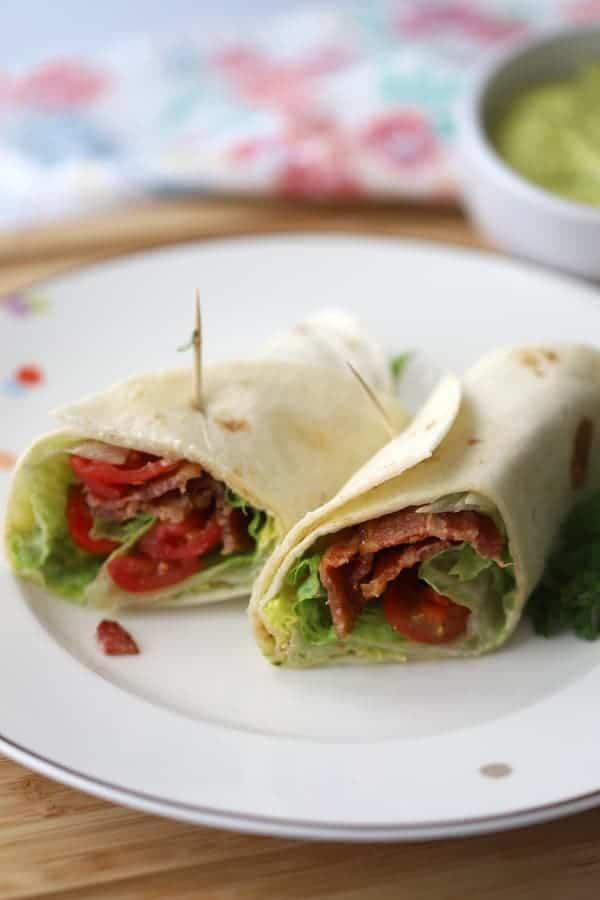 Wedge Salad Wrap with Hemp Oil Aioli