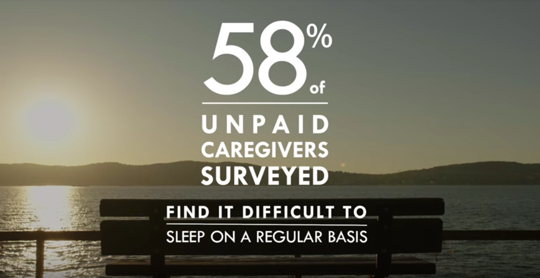 most unpaid family caregivers have trouble sleeping