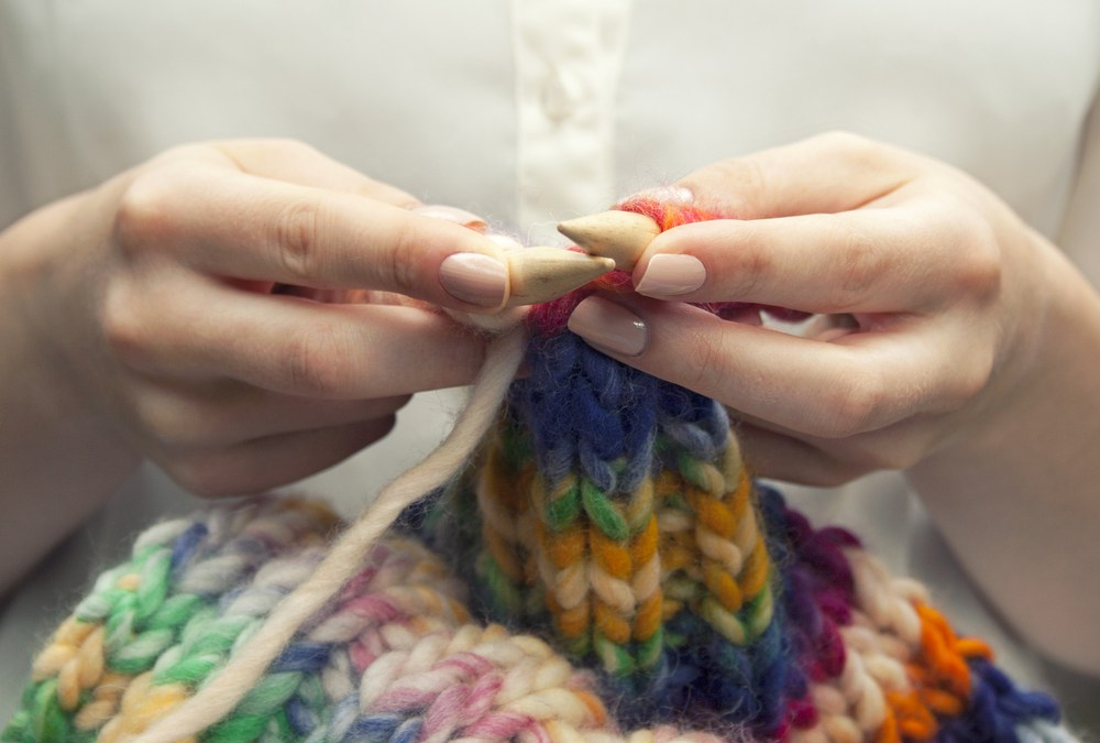 What keeps me going: Knitting