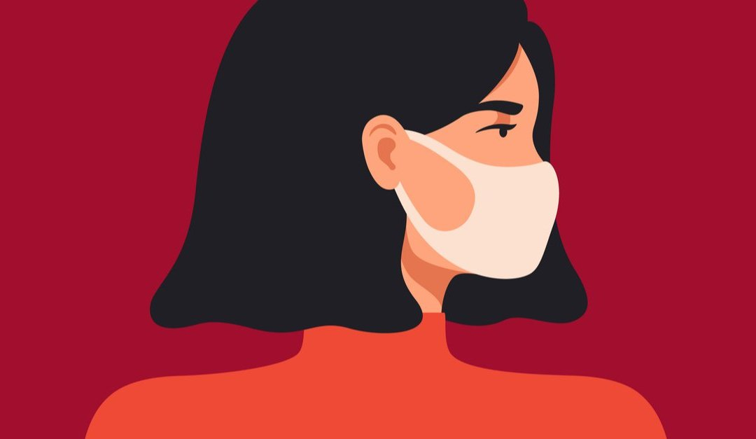 Wuhan Novel coronavirus 2019. Young woman wears a breathing mask to protect against coronavirus and air pollution. The concept of preventing the spread of viral infectious diseases