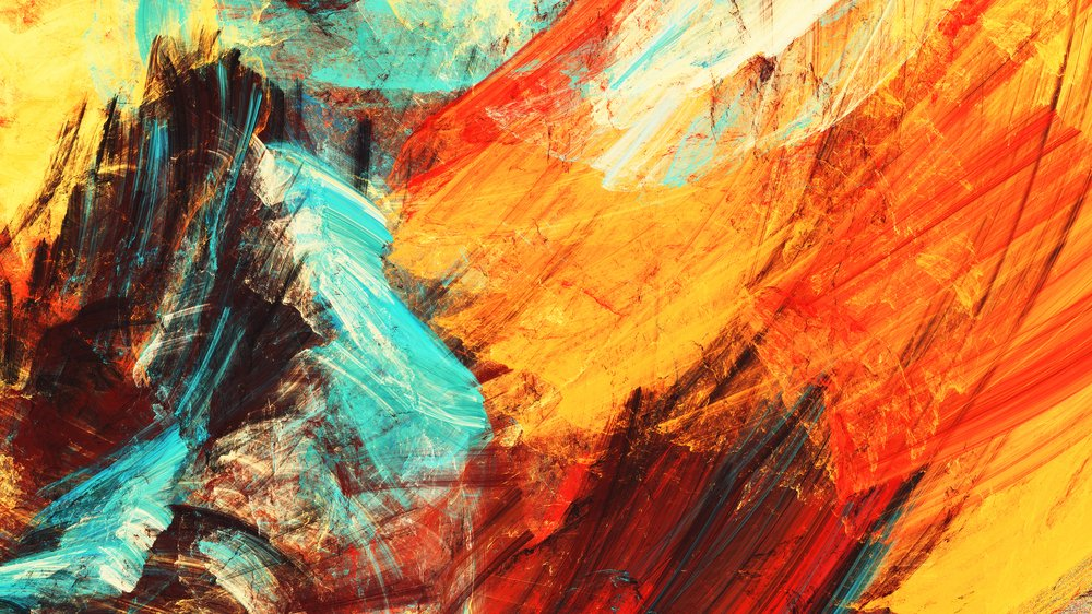 Bright artistic splashes. Abstract painting color texture. Modern futuristic pattern. Multicolor dynamic background.