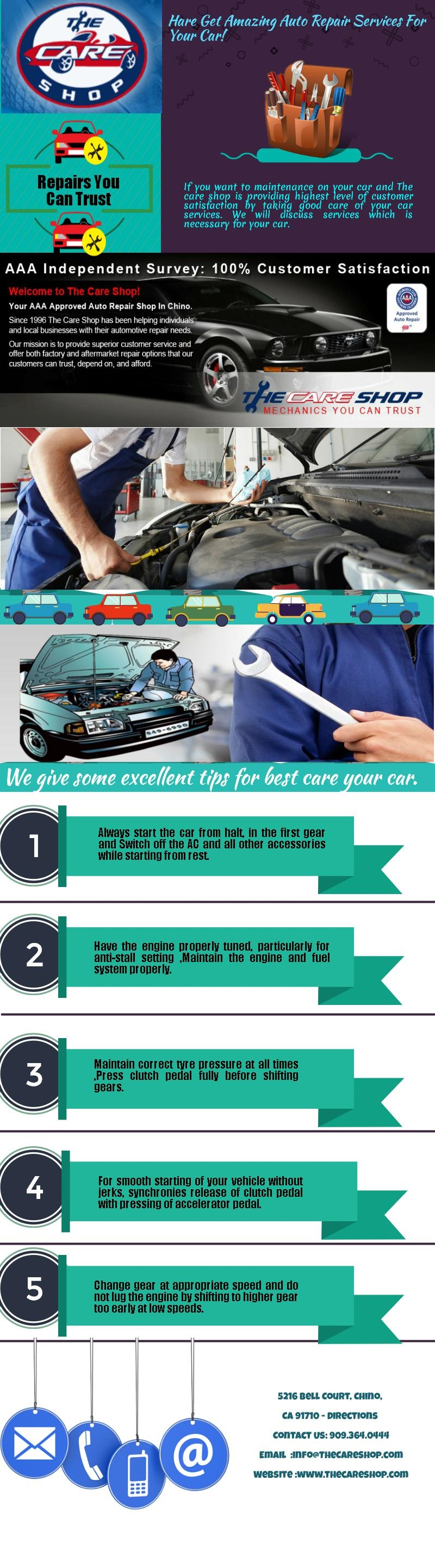 Best Car Care Tips Infographic Aaa Approved Auto Repair