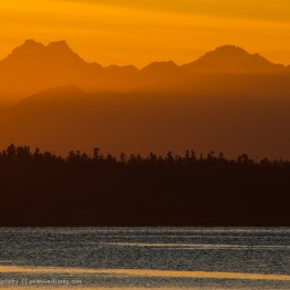 Sunset over Olympic National Park, Washington,USA