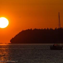 Sunset over Canada from Semiahmoo Resort, Washington, USA
