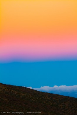 Post sunset colors from Mauna Kea, Hawaii, USA