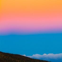 Post sunset colors from Mauna Kea, Hawaii, USA