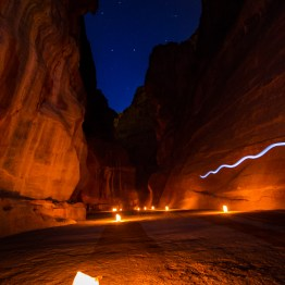 The Siq and the Big Dipper, Petra, Jordan