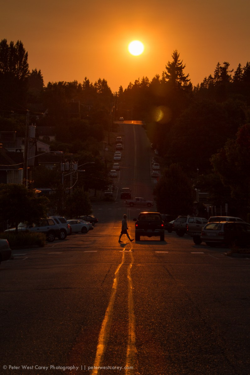 Down 2nd Ave in Langley, Washington, USA