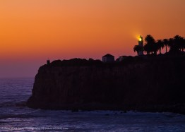After sunset, Point Vicente Lighthouse, California, USA