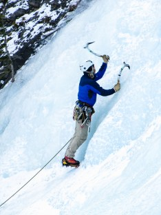 Ice Climbing, Banff National Park, Alberta, Canada