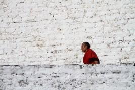 Walking Monk, Trongsa, Bhutan