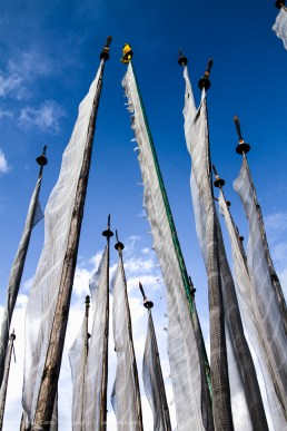 Prayer Flag Poles, Bhutan