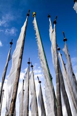 Prayer Flag Poles, Bhutan