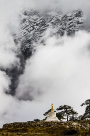 Stupa Against The Mountains, Nepal