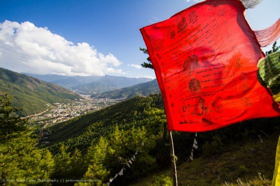 Prayer Flag Above Thimphu, Bhutan