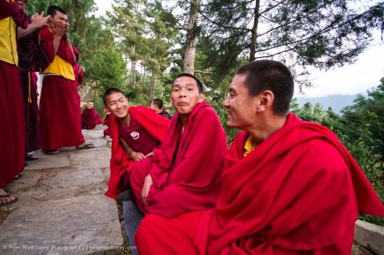 Monk Debates, Jakar, Bhutan