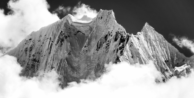 The Knife Edge Of Thamserku, Nepal