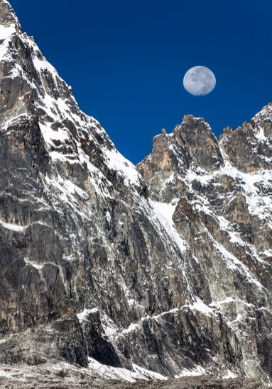 The Machermo Range And The Moon, Nepal