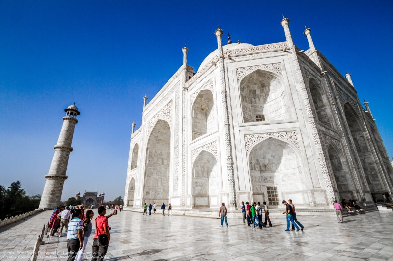 On The Dias At The Taj Mahal, Agra, India
