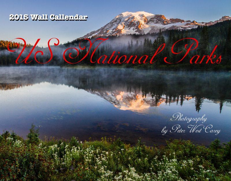 Mount Rainier And Reflection Lakes At Sunrise, Mt. Rainier Natio