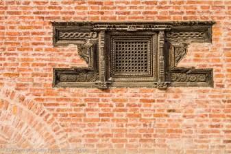 Durbar Square Wall Details, Bhaktapur, Nepal, Asia