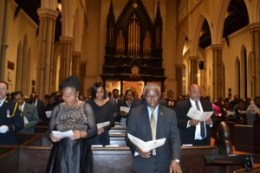 Bajans celebrate the anniversary of their independence with a service in Toronto. Gerald V. Paul photo.