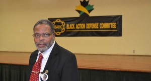 Kingsley Gilliam of Black Action Defense League has questions about police conduct. Gerald V. Paul photo.