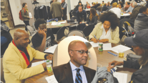 Justice Tulloch inserted in to a working group at the meeting.