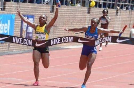 Jamaican women's team wins Penn Relays 4×100 gold